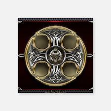 """Triquetra in Celtic Cross Square Sticker 3"""" x 3"""""""