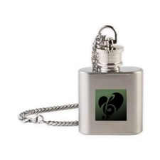 Sage Music Heart Flask Necklace
