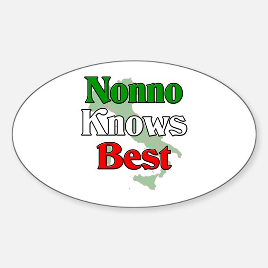 Nonno Knows Best Oval Decal