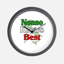 Nonno Knows Best Wall Clock