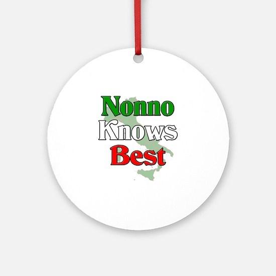 Nonno Knows Best Ornament (Round)