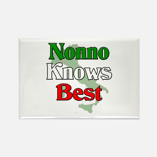 Nonno Knows Best Rectangle Magnet