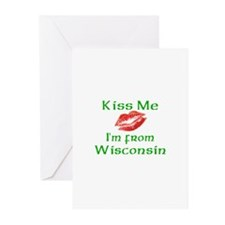 Kiss Me I'm from Wisconsin Greeting Cards (Package