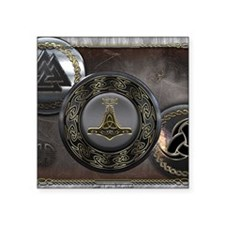 "Vikings Shields Square Sticker 3"" x 3"""