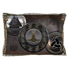 Vikings Shields Pillow Case