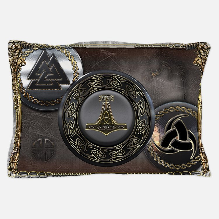 Vikings Shields Pillow Case