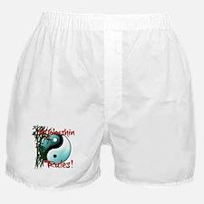 Yin Yang and Bamboo Kyokushin design Boxer Shorts