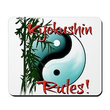 Yin Yang and Bamboo Kyokushin design Mousepad