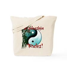 Yin Yang and Bamboo Kyokushin design Tote Bag