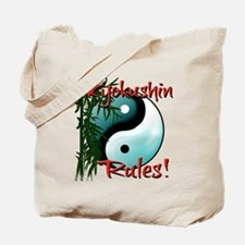 Yin Yang and Bamboo Kyokushin design Tote Bag