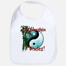 Yin Yang and Bamboo Kyokushin design Bib