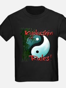 Yin Yang and Bamboo Kyokushin design T-Shirt