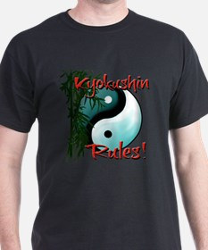 Yin Yang and Bamboo Kyokushin design T-Shirt