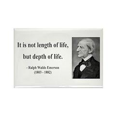Ralph Waldo Emerson Quote 6 Rectangle Magnet (100