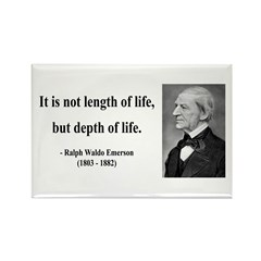Ralph Waldo Emerson Quote 6 Rectangle Magnet