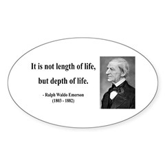 Ralph Waldo Emerson Quote 6 Oval Decal