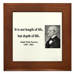 Ralph Waldo Emerson Quote 6 Framed Tile