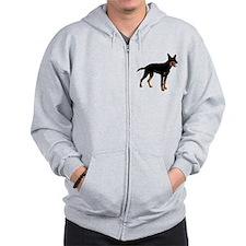 Australian Kelpie Dog Zip Hoodie