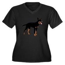 Australian K Women's Plus Size V-Neck Dark T-Shirt