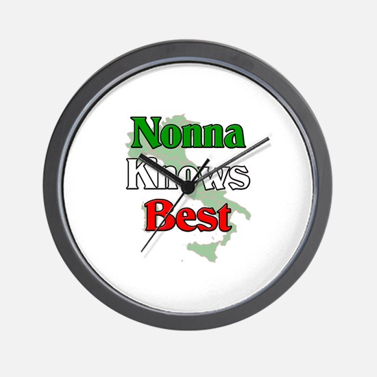 Nonna Knows Best Wall Clock