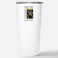 wrestling27light.png Stainless Steel Travel Mug