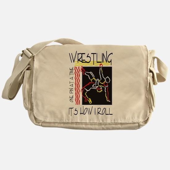 wrestling27light.png Messenger Bag