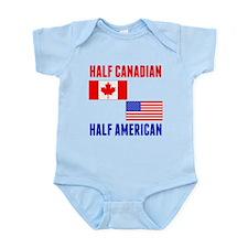 Half Canadian Half American Body Suit