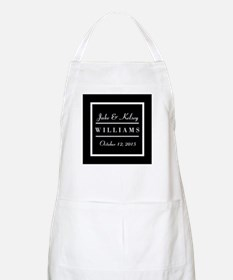 Personalized Black and White Family Keepsake Apron