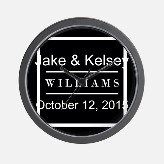 Personalized Black and White Family Kee Wall Clock