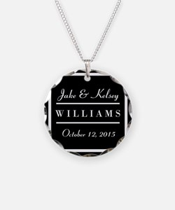 Personalized Black and White Necklace