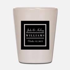 Personalized Black and White Family Kee Shot Glass