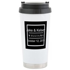 Personalized Black and Travel Mug