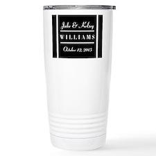 Personalized Black and Travel Mug