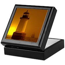 Picketing Lighthouse Keepsake Box