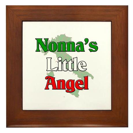Nonna's Little Angel Framed Tile