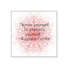 Auguste Comte Quote Sticker
