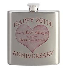 20th. Anniversary Flask