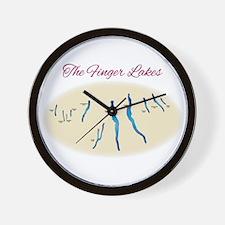 Finger Lakes Wall Clock