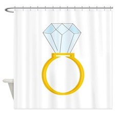 Diamond Ring Shower Curtain