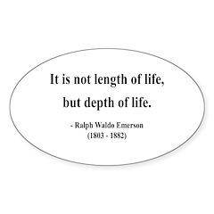 Ralph Waldo Emerson 6 Oval Sticker