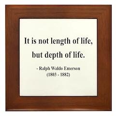 Ralph Waldo Emerson 6 Framed Tile