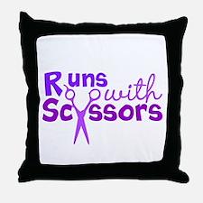 Fast Scissors Throw Pillow