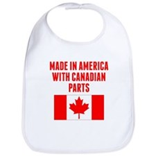 Made In America With Canadian Parts Bib
