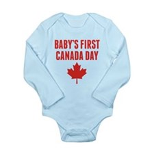 Babys First Canada Day Body Suit
