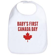 Babys First Canada Day Bib
