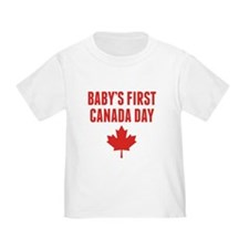 Babys First Canada Day T-Shirt