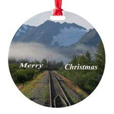 Alask Railroad tracks Ornament