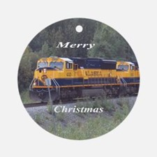 Alask Railroad Ornament (Round)