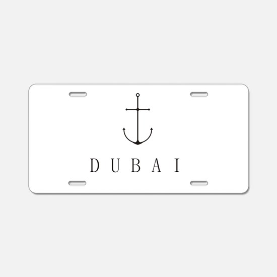 Dubai Sailing Anchor Aluminum License Plate