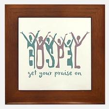 Praise On Framed Tile